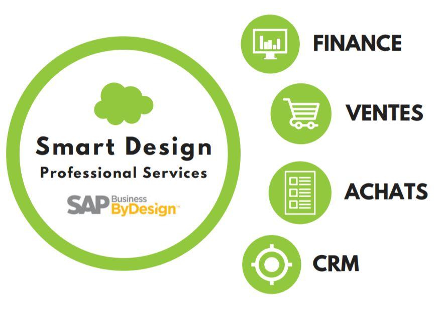 ERP SAP pour PME pour les domaines Finance, Ventes, Achats, CRM