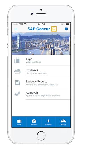 SAP Concur - gestion note de frais